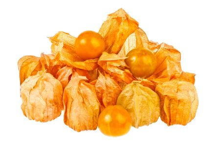 Cape gooseberrys in isolated on white Stock Photo - 18458213