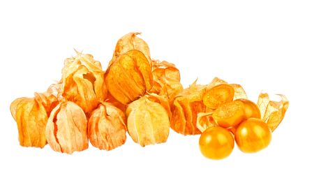 Cape gooseberrys in isolated on white Stock Photo - 18458181