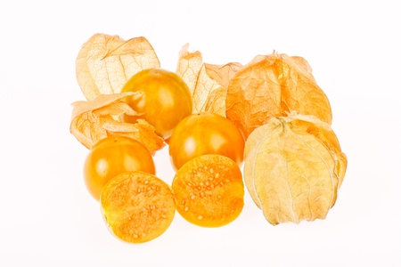 Cape gooseberrys in isolated on white Stock Photo - 18458183