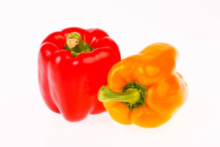 peper: sweet pepper in isolated on white