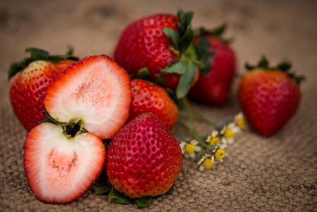 strawberrys: Strawberrys on hemp sheet