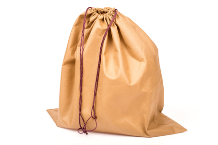 fiber sack in isolated on white  background Stock Photo