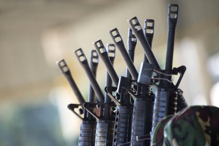 group of rifles 免版税图像 - 50288120