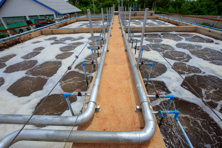 small waste water treatment system in factory