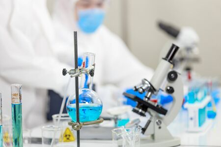 Laboratory with scientific experiment equipment