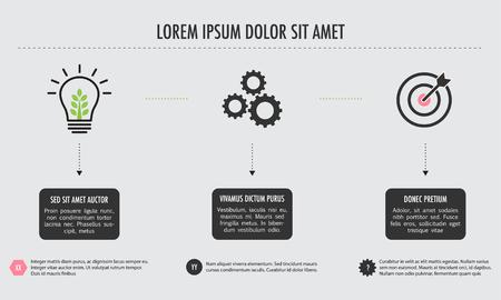 Stroomschema van business process Stock Illustratie
