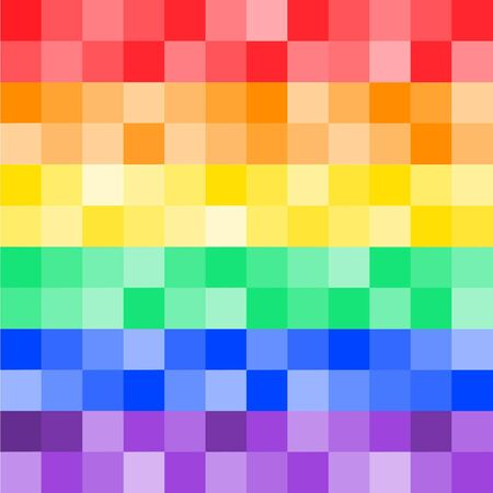pixelate: Rainbow flag