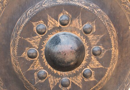 close up: Close up of gong