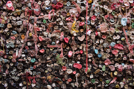 pike place market: Gum wall Stock Photo