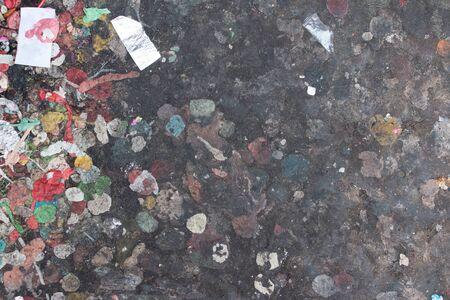 dirty: Dirty sidewalk with gum