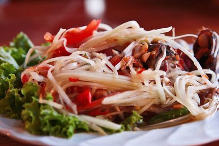 Thai salad Somtum photo