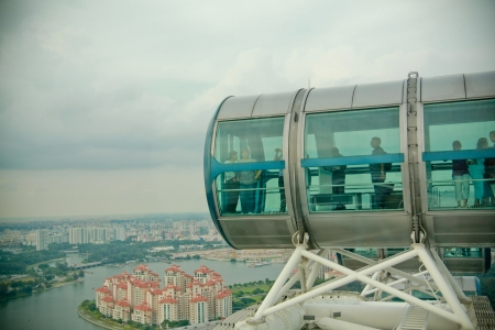 Singapore flyer cabins