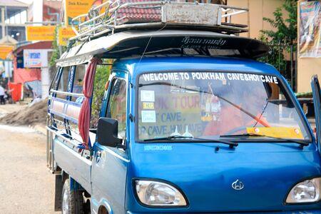 domestics: minivan travelling in Vangviang Loas