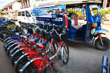 domestics: Rent bicycle for tralvelling in Luangprabang