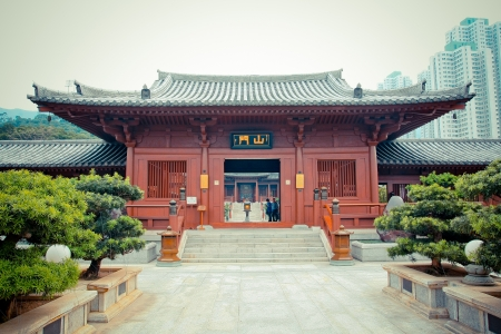 old Chinese temple in the central of Hongkong (Chi lin nun nurry) Stock Photo - 19030740