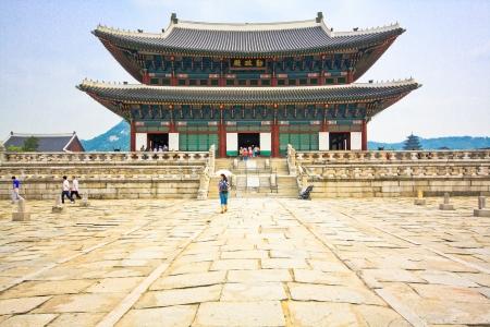 宮殿の韓国パビリオン 報道画像