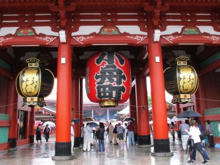 東京の浅草寺の門 報道画像