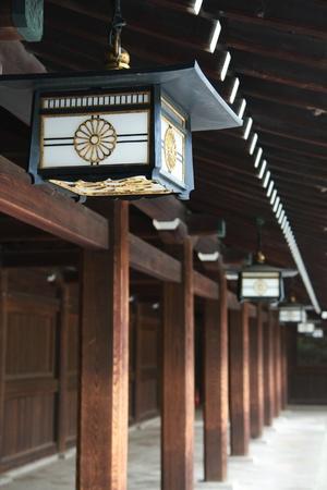 harajuku: Ancient Japanese Lamp in Meiji Jingu Shrine Harajuku Tokyo