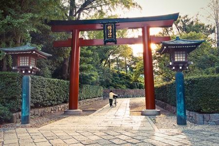 Torii gate at Nezu Temple in Tokyo