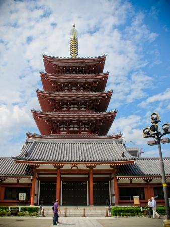 東京の浅草寺の五重塔