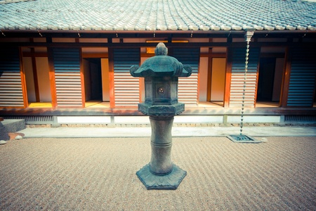Japanese lamp in temple photo
