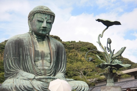 kamakura: Giant Buddha in Kamakura Japan Stock Photo
