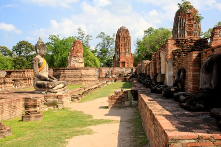 Wat Chai Watthnaram the historic temple in Ayutthaya, Thailand photo