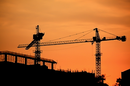 silhouette of construction Site photo