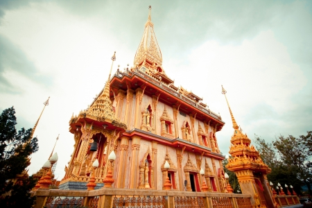 Temple in Phuket, Thailand  wat Chalong  photo