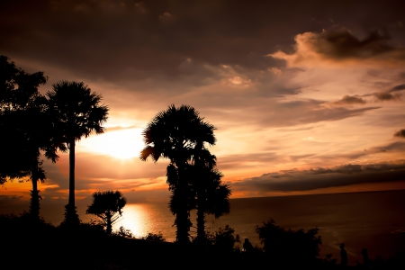 Silhouette at Phuket, Thailand photo