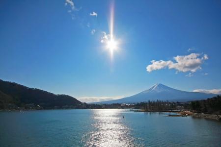 kawaguchi: Fuji mountain at Kawaguchi lake, Japan