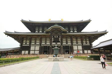 todaiji: NARA, JAPAN - AUG 12: Todaiji Temple in Nara, Japan. The world Editorial