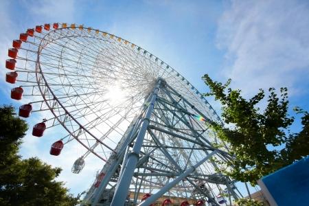 Ferris wheel in Osaka, Japan  Stok Fotoğraf
