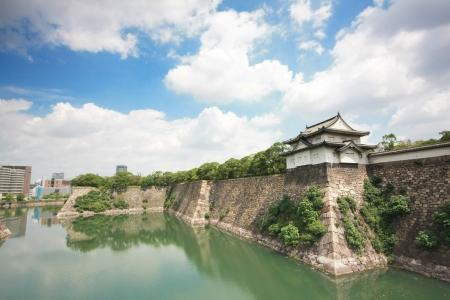 shogun: The canal around Osaka castle, landmark of Osaka city in Japan