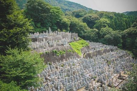 Japanese graveyard in Kyoto