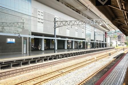 Railway road in kyoto station, Japan