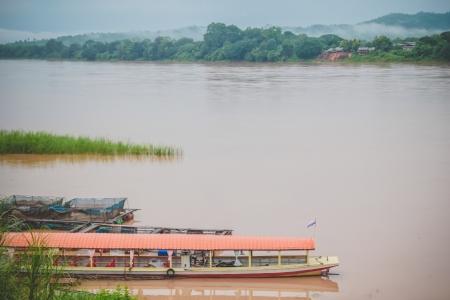 khong river: Natural view of Khong river in Chaingkhan, Thailand