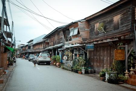 khan: Local village in Chiang Khan Loei Thailand, has sufficiency Life in Thailand