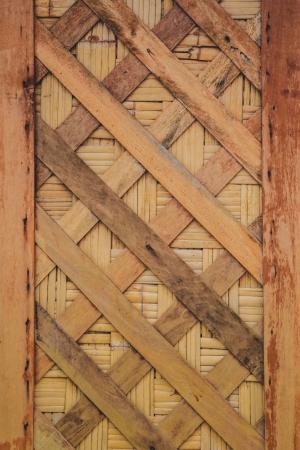 3642;Bamboo weaved pattern on door photo