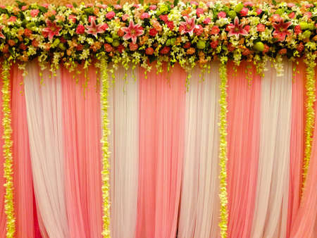 backdrop: Flower backdrop for wedding