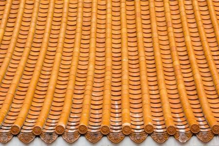 中国のお寺で茶色の屋上のテクスチャ