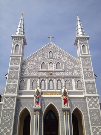 ratchaburi: Ancient catholic church in Ratchaburi province Thailand