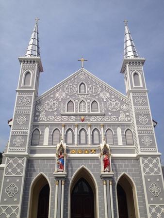ratchaburi: Ancient catholic church in Ratchaburi province Thailand