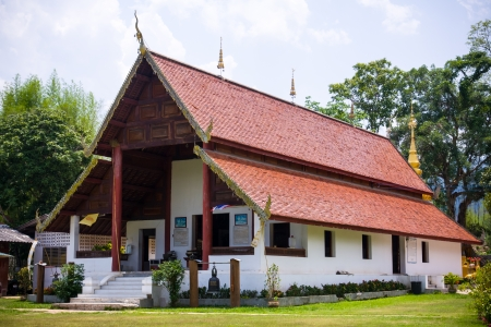 The Buddhist temple at Maehongson province in Thailand