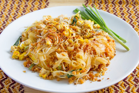 thai noodle: Thai food, Pad thai, Thai style noodles Stock Photo