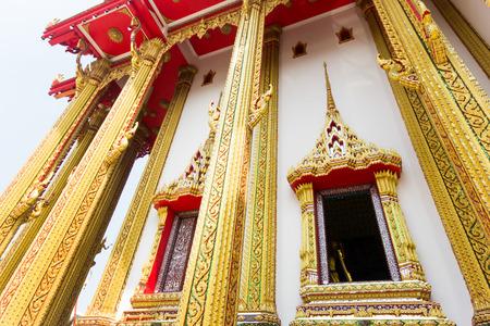 Thai Buddhist temple  Thai art of the window photo