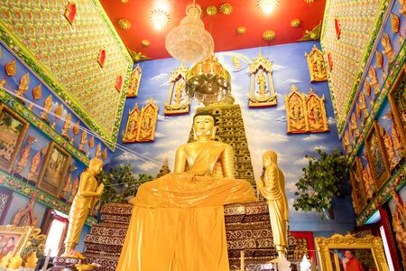 nonthaburi province: The elegant of Thai art interior inside the Buddhist templ in Nonthaburi province, Wat Bua Khan Editorial