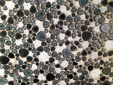 Tiny rock stone pattern tile photo