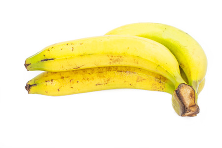 Fresh banana isolate on whte background  photo