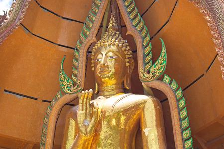 Big golden Buddha in Wat Tham Suea,Kanchanaburi, Thailand  photo
